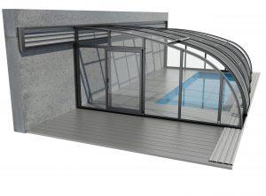 ALUWALL Zadaszenie basenowe z aluminium i poliwęglanu
